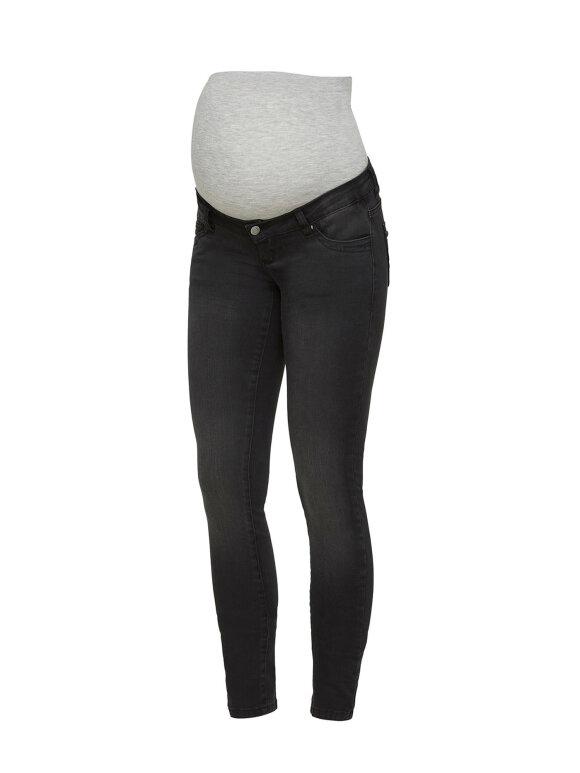 Mamalicious - Gravid jeans - slim black Feodora, 7917