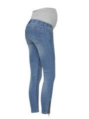 Mamalicious - Riga slim 7/8 zip jeans, 8068