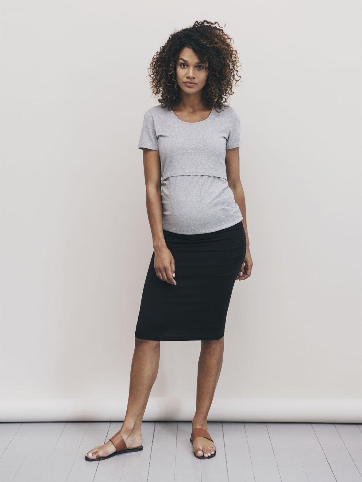 Enula9 - Gravid nederdele & shorts - Boob - Nederdel OONO ruched skirt