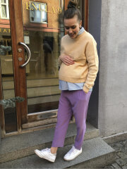 Kokoon - Py crop pants - purple