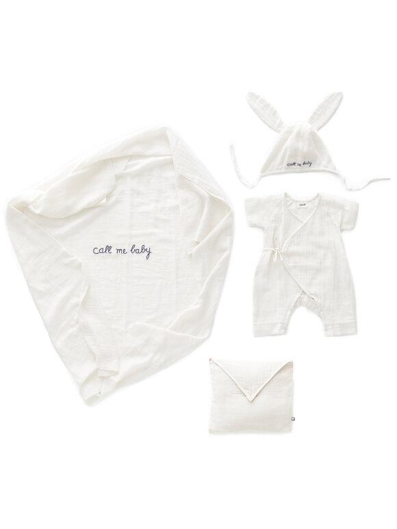 Oeuf NYC - Baby svøbesæt, hvid