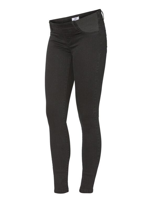 Mamalicious - Lola gravid jeans w. elastic, sort, 8775
