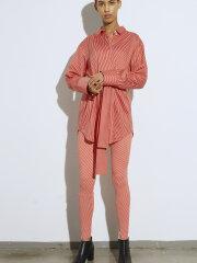Mads Nørgaard - Lizippa legging stripe red ecru