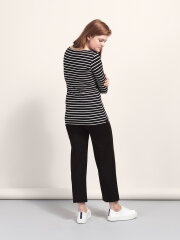 Boob - Simone long sleeve top, blå stribet