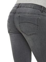 Mamalicious - Lola gravid jeans w. bumpband, grey, 9202