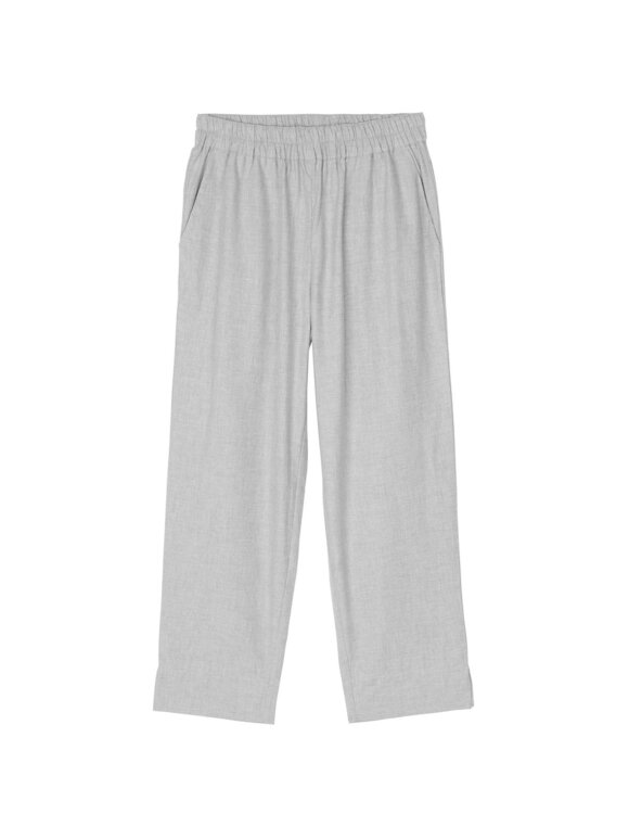 AIAYU - Warrior Straight Pant Flannel, Grey Melange