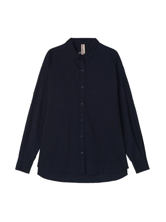 AIAYU - Warrior Shirt Flannel, Navy