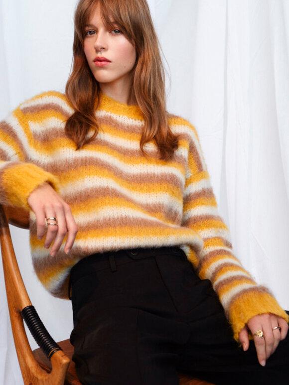 Nué Notes - Kaya Pullover yellow stripes