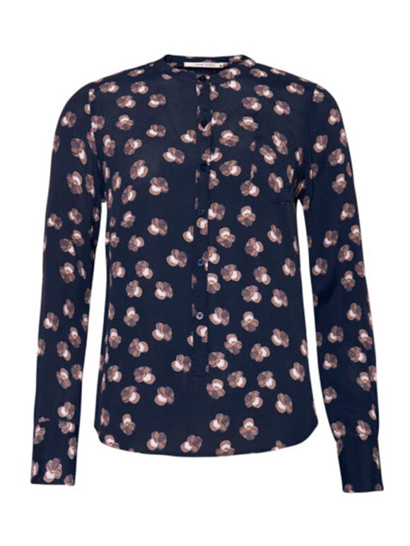 Nué Notes - Bianca Shirt, Navy flower