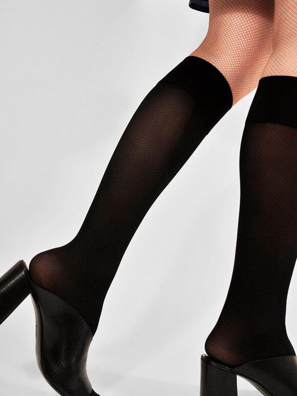 Swedish Stockings - Irma Support Knee-Highs, Sort