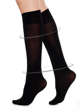 Swedish Stockings - Irma Support Knee-Highs, Sort