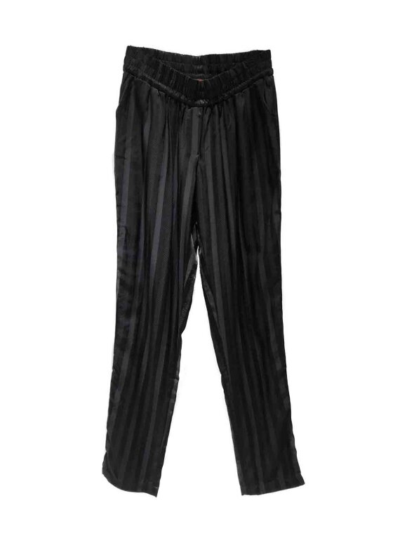 Fragile - Easy trousers, black stripes
