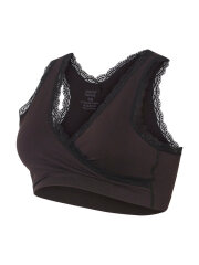 Mamalicious - Crossy Lace bra, Sort