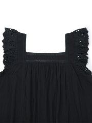 Bonton - Flounce dress, charcoal blue