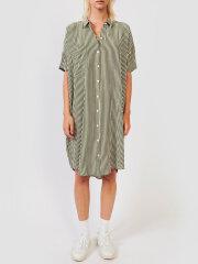 Kokoon - Daisy shirt dress - Moss Green Stripe