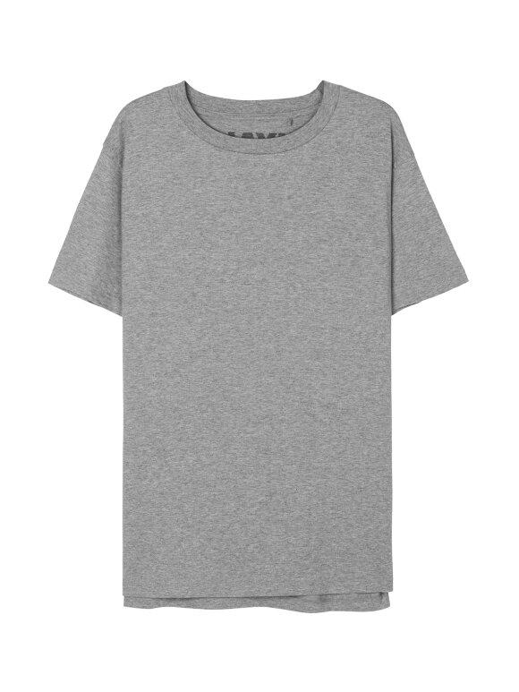 AIAYU - Short Sleeve Tee, Grey melange