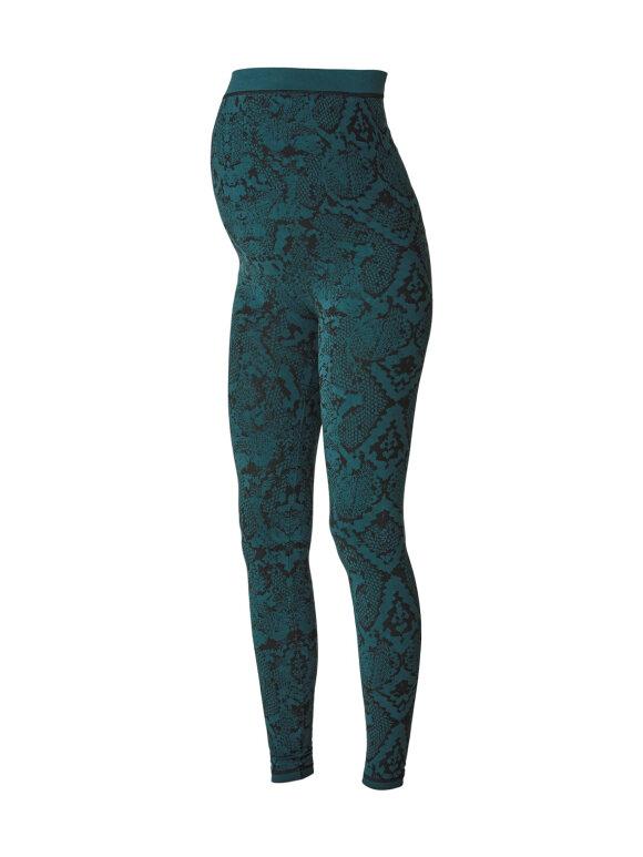 Mamalicious - Active tights green snake