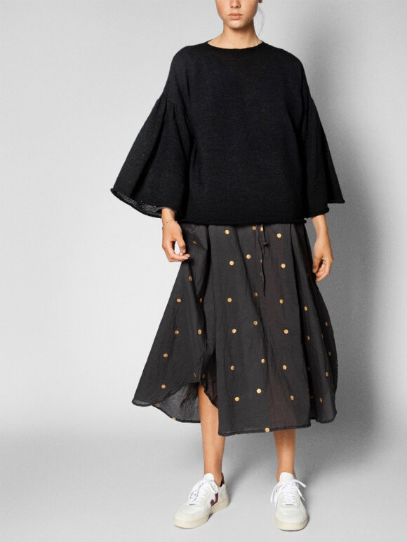 AIAYU - Long skirt golden dot