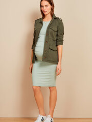 Isabella Oliver - Ruched T-shirt Maternity Dress Mint