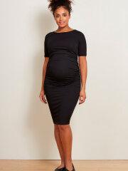 Isabella Oliver - Ruched t-shirt maternity dress - black