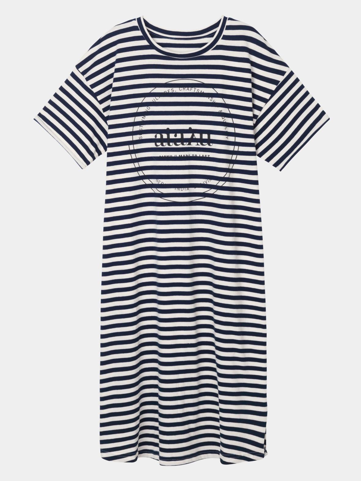 d2160702 Enula9 - Nyheder - AIAYU - Stribet logo kjole