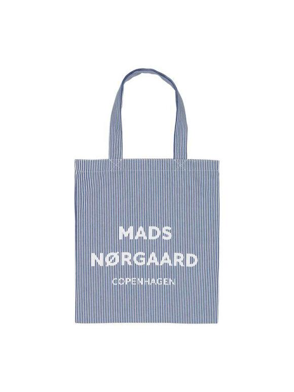 Mads Nørgaard - Milky Stripes Atoma, White/Blue