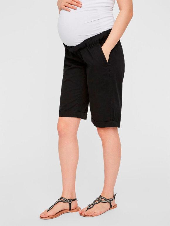 Mamalicious - Katrin Bermuda Shorts, Sort