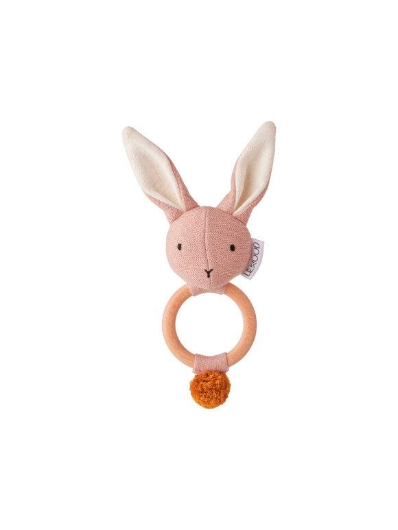 Liewood - Aria Rattle, Rabbit, Rose