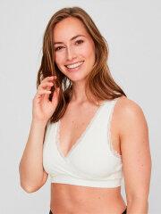 Mamalicious - Crossy Lace bra, snow white