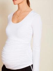 Isabella Oliver - Scoop top- hvid