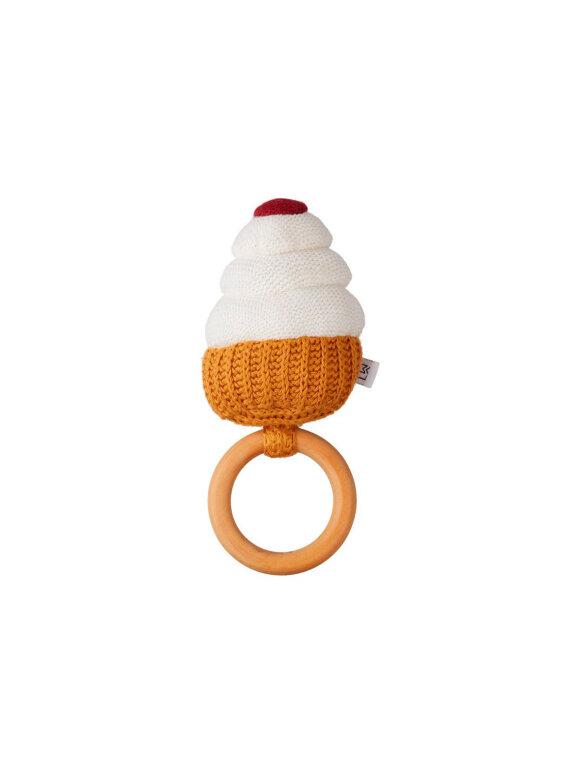 Liewood - Aria Rattle, Cupcake creme de la creme