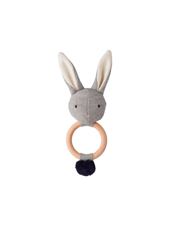 Liewood - Aria Rattle, Rabbit, Grey melange
