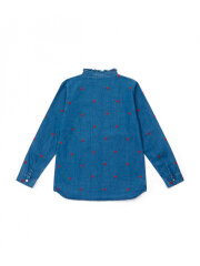 Bonton - Denim shirt with hearts