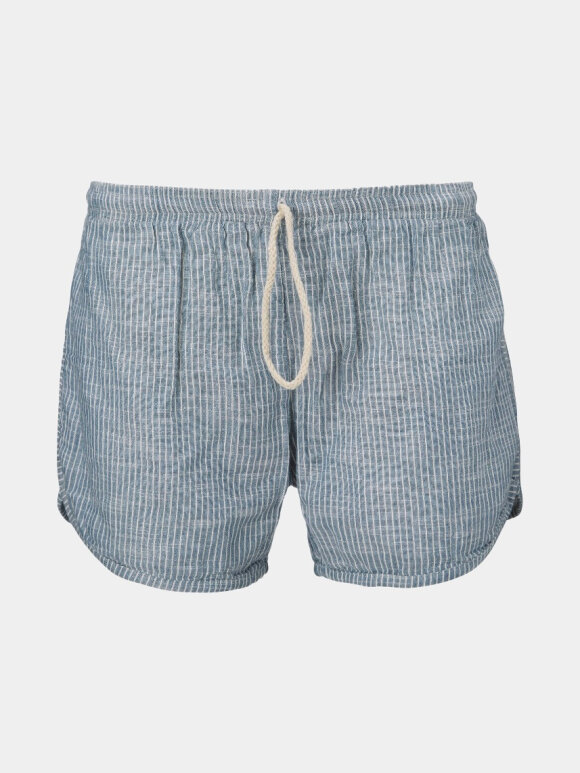 AIAYU - Shorts Striped, Indigo