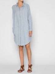 AIAYU - Shirt dress striped - Indigo