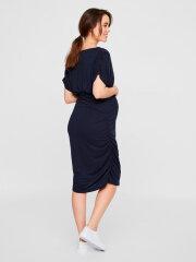 Mamalicious - Pilar Jersey Dress, Navy Blazer