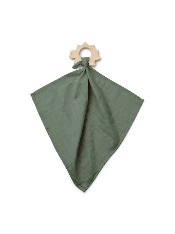 Liewood - Dines teether cuddle cloth - faune green