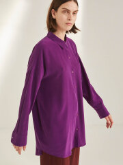 Kokoon - Bianca pocket shirt - purple