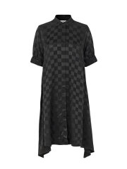 Mads Nørgaard - Check viscose dancella dress, black