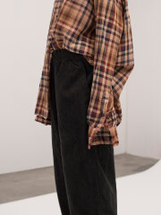 AIAYU - Straight pant corduroy - soil