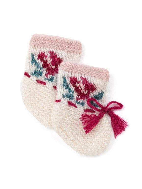 Bonton - Knitted booties - flower