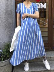 Nué Notes - Melissa - Maxi kjole blue