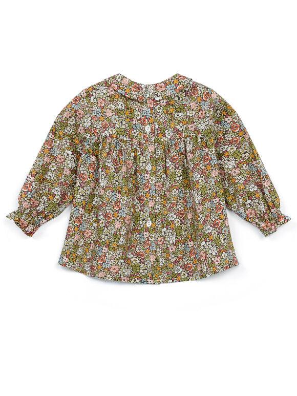 Bonton - Baby blouse sky liberty flowers