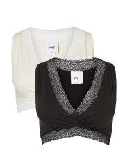Mamalicious - Crossy wide lace bra - 2-pak