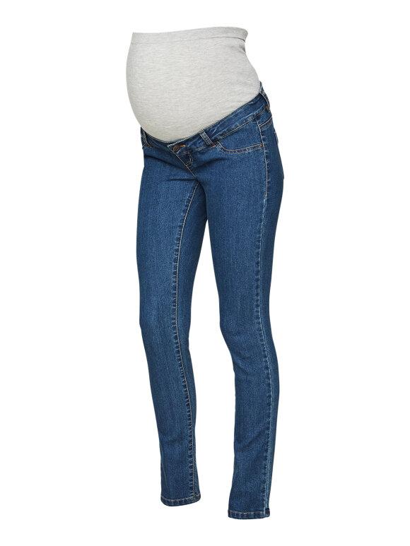 Mamalicious - Julia slim jeans - medium blue