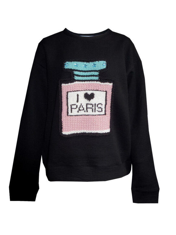 Michaela Buerger - I love Paris sweatshirt black
