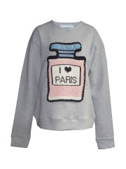 Michaela Buerger - I love Paris sweatshirt greymelange