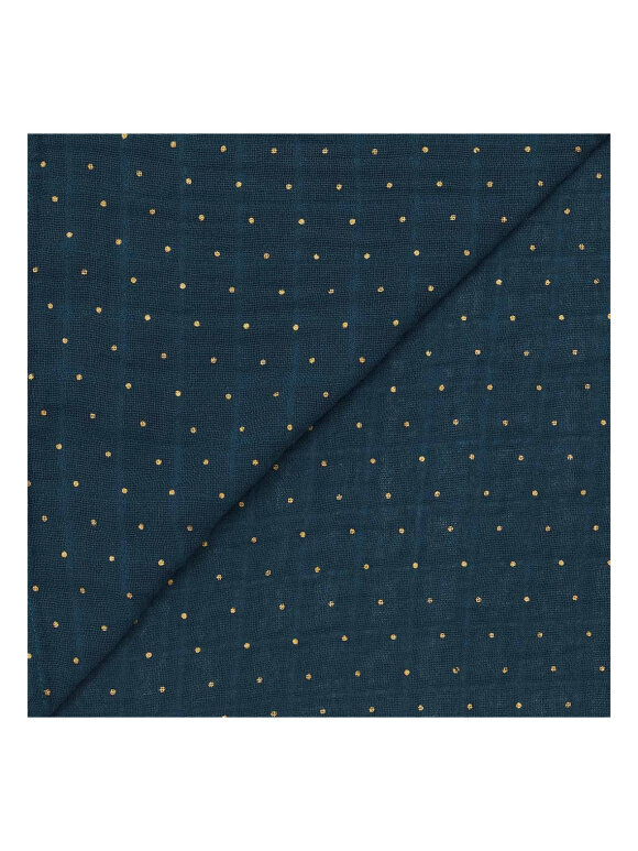 Bonton - Stofble - navy/golden dot