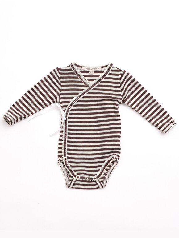 Lilli & Leopold - Baby kimono body - stripes