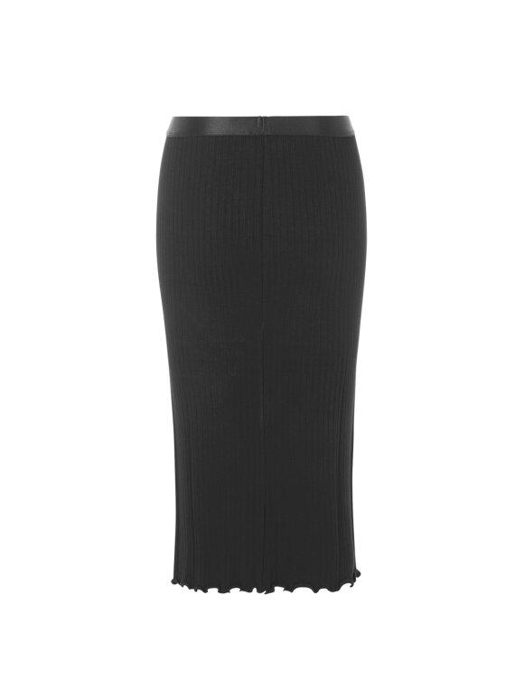Mads Nørgaard - 5x5 Rib Suzetta skirt, Black